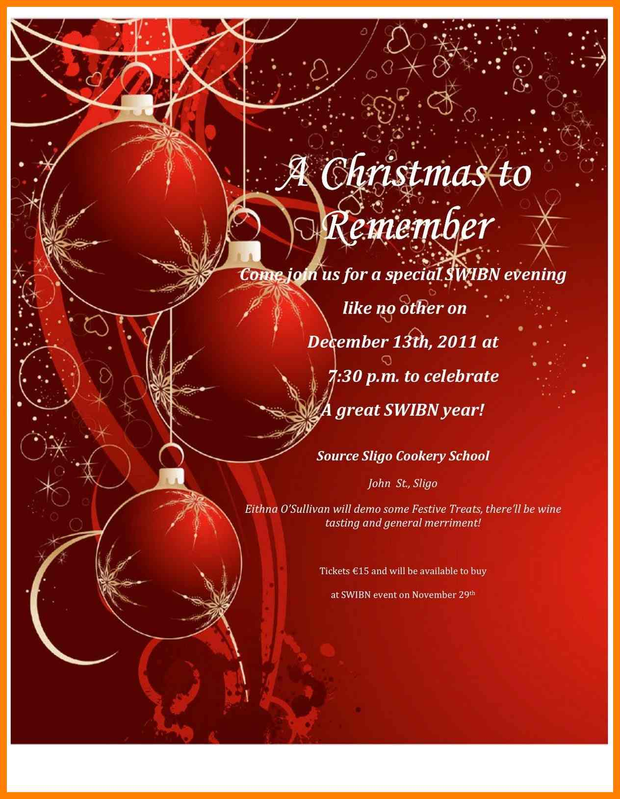 25 How To Create Office Christmas Party Invitation Template Free With Free Christmas Invitation Templates For Word