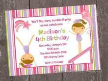 21 Create Birthday Invitation Templates Gymnastics Now with Birthday Invitation Templates Gymnastics