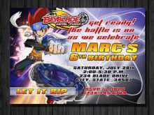 21 Customize Our Free Beyblade Birthday Invitation Template Maker with Beyblade Birthday Invitation Template