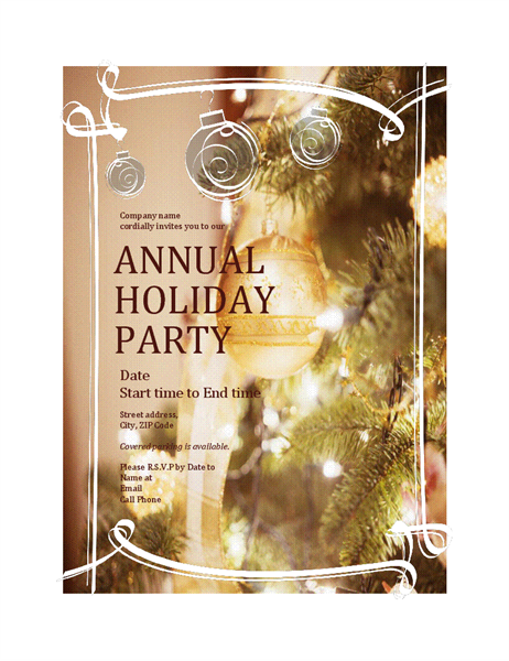 21 Free Office Party Invitation Template Editable for Ms Word with Office Party Invitation Template Editable