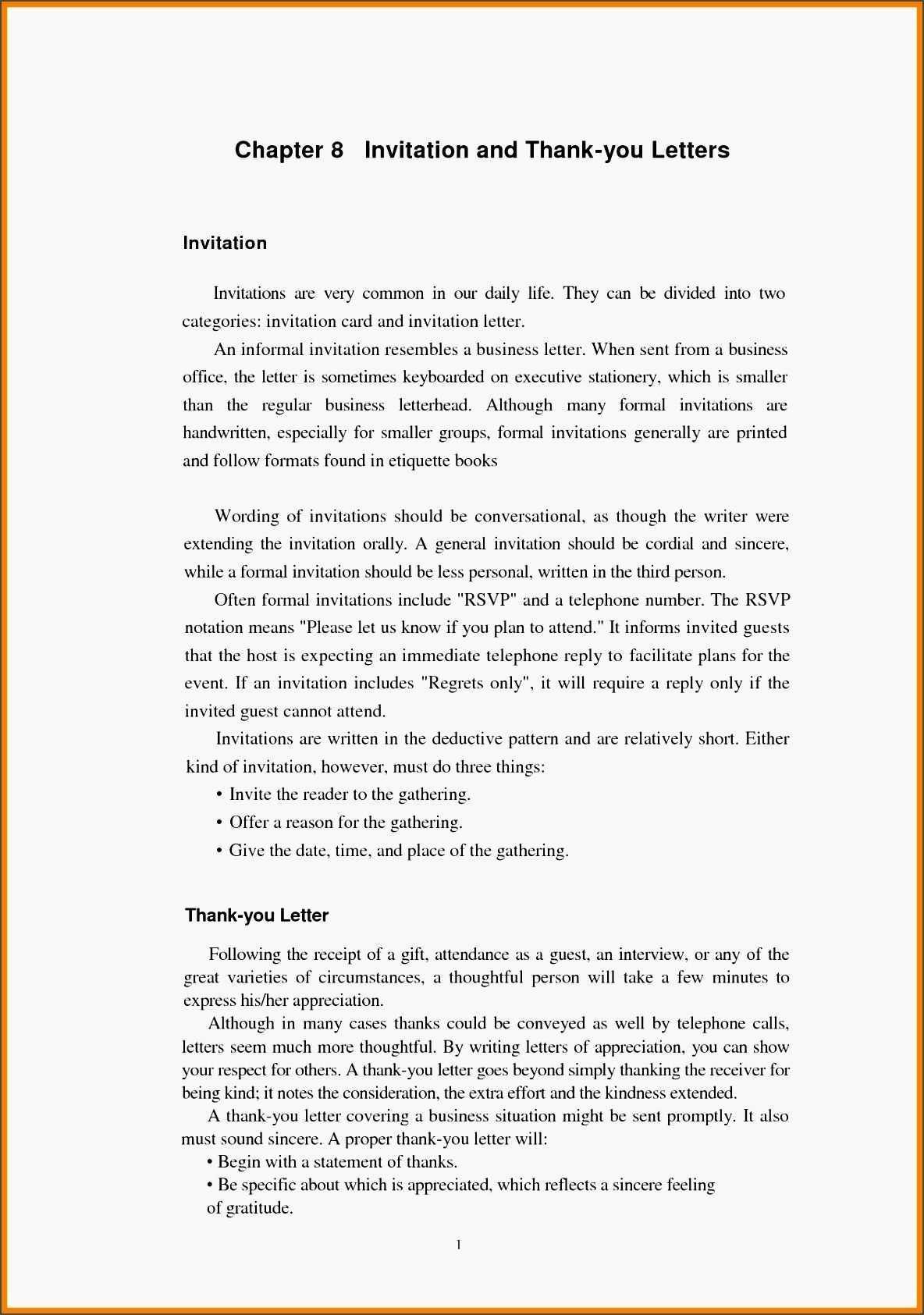 Formal Invitation Letter Template - Cards Design Templates