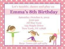 23 Best Birthday Invitation Templates Gymnastics Maker by Birthday Invitation Templates Gymnastics