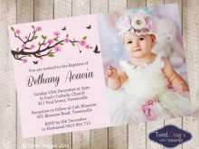 23 Creative Baby Girl Christening Blank Invitation Template Download for Baby Girl Christening Blank Invitation Template