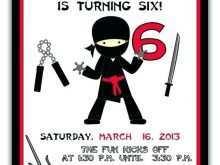 24 Adding Ninja Party Invitation Template Free for Ms Word for Ninja Party Invitation Template Free