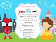 24 Create Birthday Invitation Template Superhero for Ms Word with Birthday Invitation Template Superhero