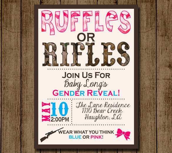24 Free Blank Gender Reveal Invitation Template For Free by Blank Gender Reveal Invitation Template