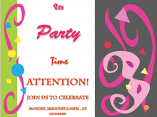 Party Invitation Template For Word