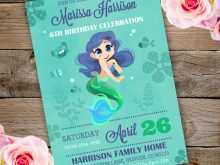 Under The Sea Party Invitation Template