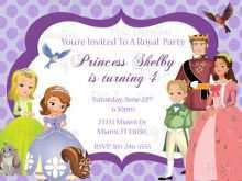Sofia The First Invitation Blank Template