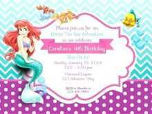 26 The Best Ariel Birthday Invitation Template in Photoshop by Ariel Birthday Invitation Template