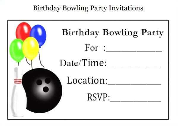 It is an image of Free Printable Bowling Birthday Party Invitations intended for bowling alley