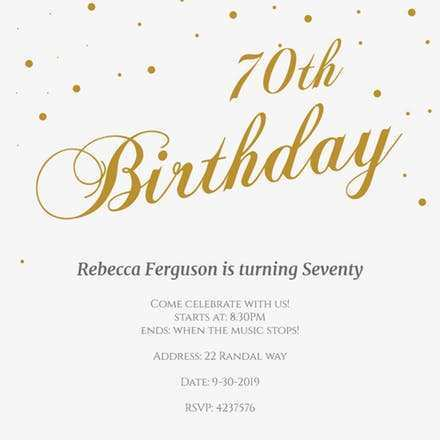 27 How To Create Birthday Invitation Template Gold Layouts with Birthday Invitation Template Gold