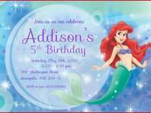 28 Best Ariel Birthday Invitation Template For Free by Ariel Birthday Invitation Template