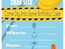 28 Free Birthday Invitation Templates Construction PSD File with Birthday Invitation Templates Construction