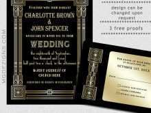 28 Printable Gatsby Wedding Invitation Template Free in Word by Gatsby Wedding Invitation Template Free