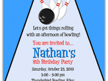 29 Creating Bowling Party Invitation Template Photo with Bowling Party Invitation Template
