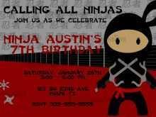 29 The Best Ninja Party Invitation Template Free For Free for Ninja Party Invitation Template Free