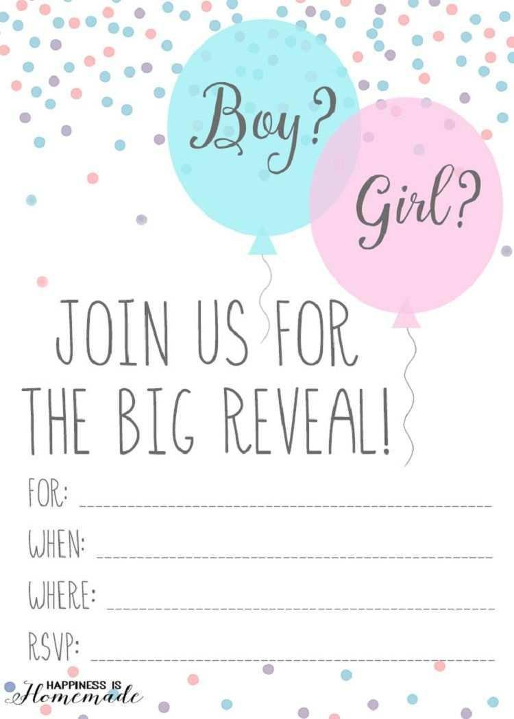 30 Report Blank Gender Reveal Invitation Template Templates by Blank Gender Reveal Invitation Template