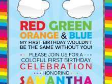 30 Standard Rainbow Party Invitation Template Formating by Rainbow Party Invitation Template