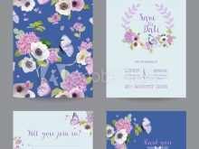 31 Create Hydrangea Wedding Invitation Template for Ms Word with Hydrangea Wedding Invitation Template