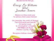 Reception Invitation Cards Wordings For Friends