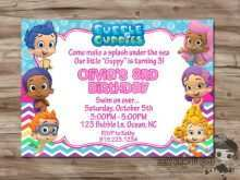 31 Report Blank Bubble Guppies Invitation Template PSD File for Blank Bubble Guppies Invitation Template