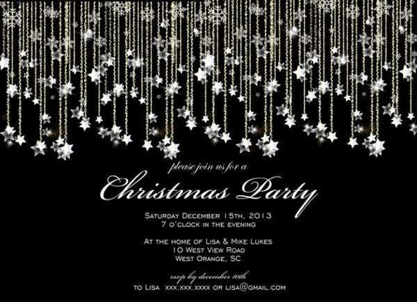 32 Adding Christmas Party Invitation Template Black And White With Stunning Design by Christmas Party Invitation Template Black And White