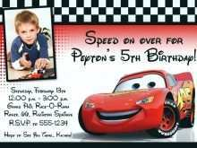 32 Blank Birthday Invitation Template Cars Maker with Birthday Invitation Template Cars
