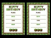 32 Creating Minecraft Party Invitation Template Photo for Minecraft Party Invitation Template