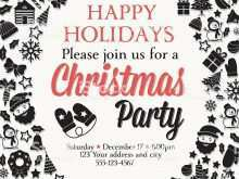 32 Customize Christmas Party Invitation Template Black And White For Free with Christmas Party Invitation Template Black And White