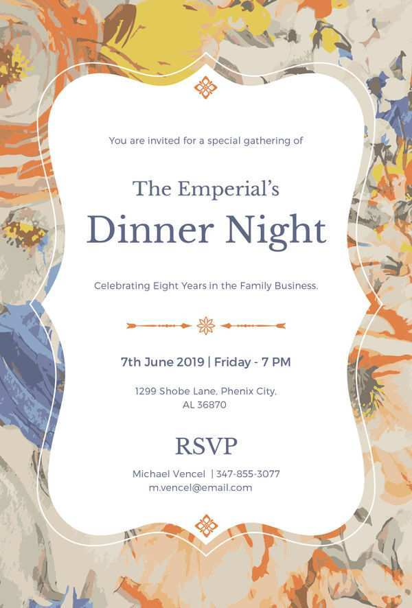 32 Customize Our Free Example Of Dinner Invitation Layouts for Example Of Dinner Invitation