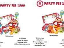 Jollibee Party Invitation Template