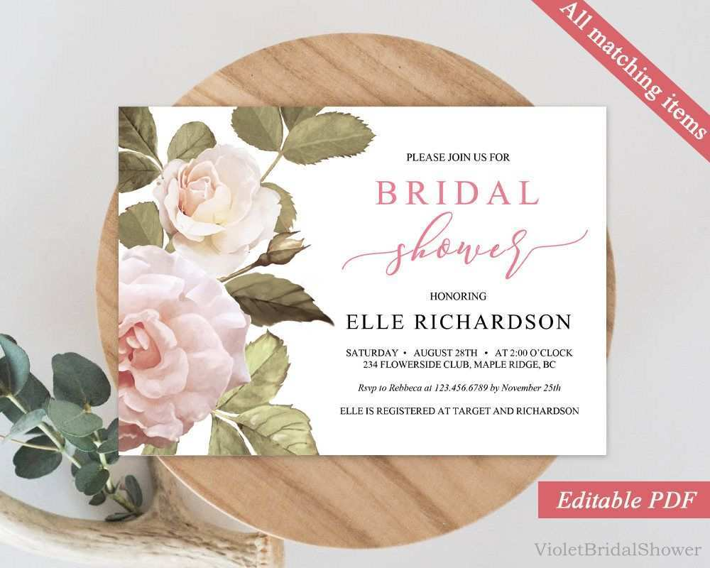 5 Report Horizontal Wedding Invitation Template With Stunning