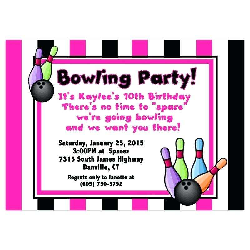 32 Standard Birthday Party Invitation Template Bowling With Stunning Design for Birthday Party Invitation Template Bowling