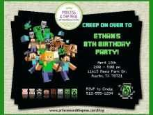 32 Visiting Minecraft Party Invitation Template for Ms Word by Minecraft Party Invitation Template
