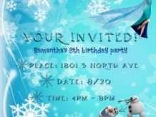 33 Format Frozen Birthday Invitation Blank Template Formating for Frozen Birthday Invitation Blank Template