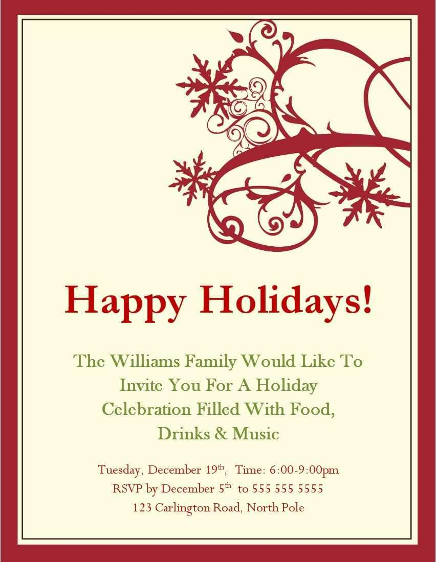 33 Visiting Christmas Dinner Invitation Template Word in Photoshop for Christmas Dinner Invitation Template Word