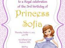34 Free Sofia The First Invitation Blank Template Layouts for Sofia The First Invitation Blank Template