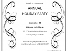 34 Printable Annual Holiday Party Invitation Template Download with Annual Holiday Party Invitation Template