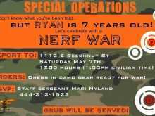 34 Visiting Free Nerf Birthday Party Invitation Template Now by Free Nerf Birthday Party Invitation Template