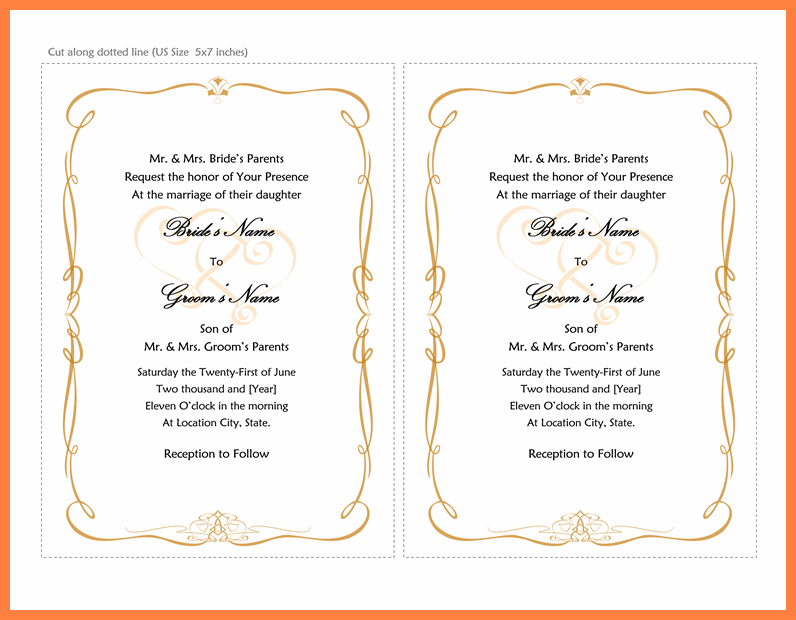 35 Creative 5 X 7 Wedding Invitation Template Free Templates for 5 X 7 Wedding Invitation Template Free