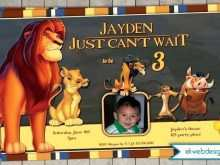 36 How To Create Lion King Birthday Invitation Template Free Formating by Lion King Birthday Invitation Template Free