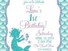 36 Report Ariel Birthday Invitation Template Formating for Ariel Birthday Invitation Template