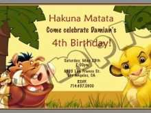 Lion King Birthday Invitation Template Free