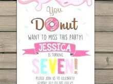 36 Visiting Donut Birthday Invitation Template PSD File by Donut Birthday Invitation Template