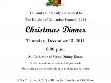 37 Report Christmas Dinner Invitation Examples PSD File with Christmas Dinner Invitation Examples
