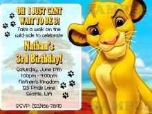 38 Creating Lion King Birthday Invitation Template Free Photo by Lion King Birthday Invitation Template Free