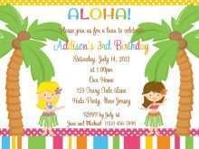 38 Online Hawaiian Party Invitation Template Maker for Hawaiian Party Invitation Template