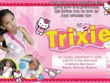 39 Standard 7Th Birthday Invitation Template Hello Kitty Download by 7Th Birthday Invitation Template Hello Kitty