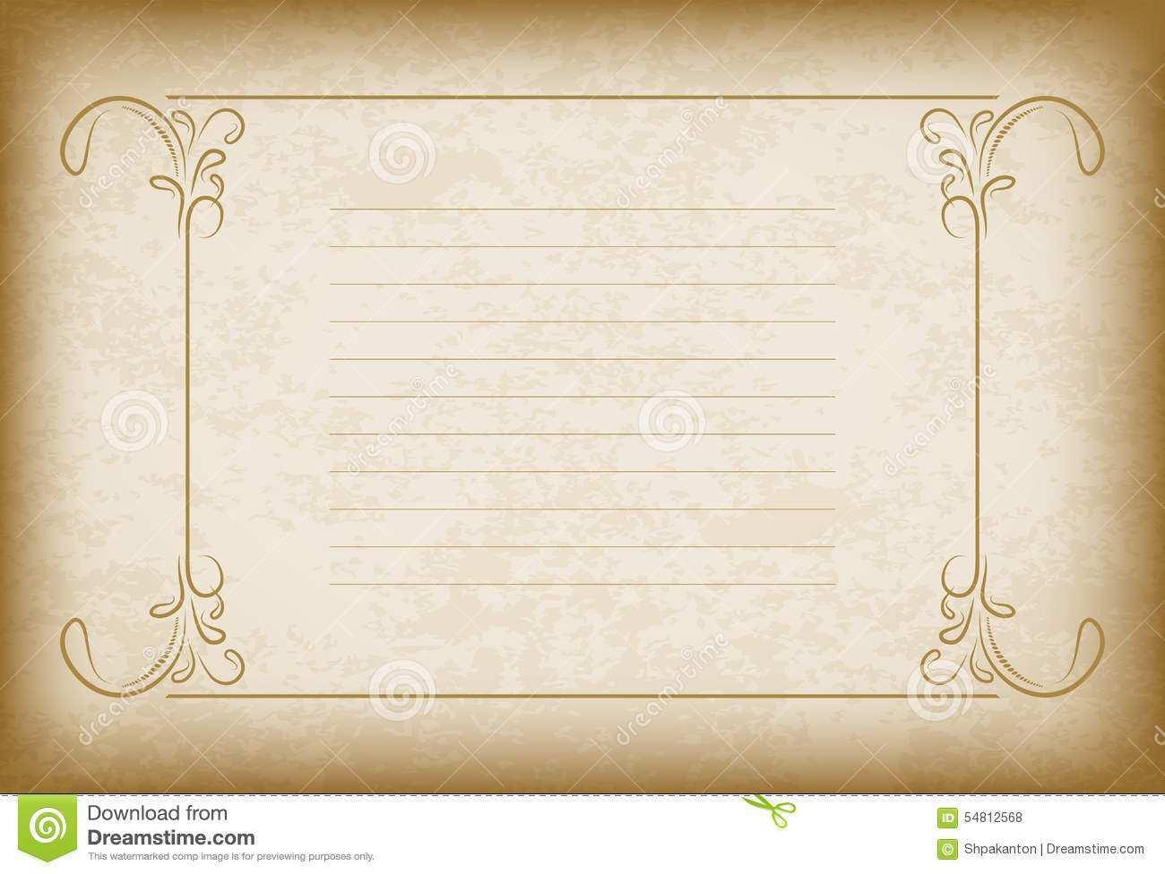 40 Creating Blank Vintage Invitation Template Formating with Blank Vintage Invitation Template